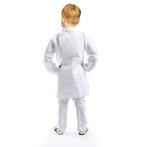 Krystle White Boys Chikan Kari Kurta and Pyjama (Pack of 01)