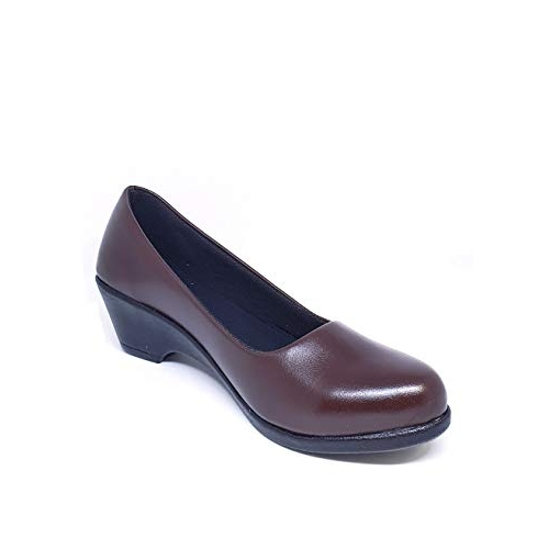 S-Footkart Office Formal Policed Black Colored Belly Heel Shoes for Women
