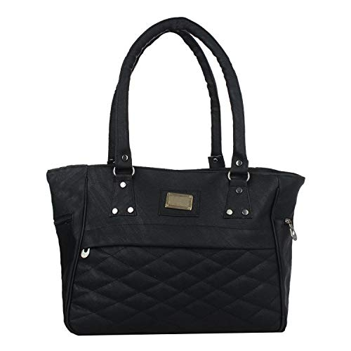 Pagwin Black Synthetic Textured Shoulder Bag