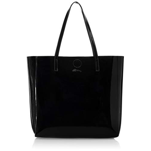 Amazon Brand - Eden & Ivy Black Synthetic Solid Tote Bag