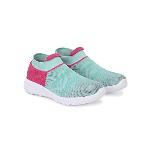 EL PASO Women's Blue Knitted Upper Running Sports Shoes