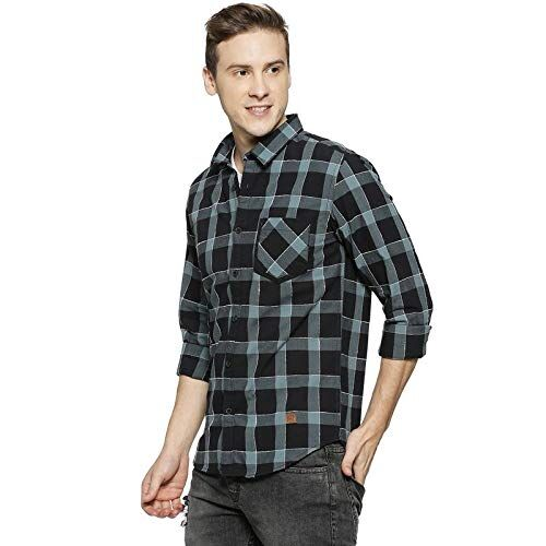 Campus Sutra Men Cotton Checkered Casual Shirts for Men
