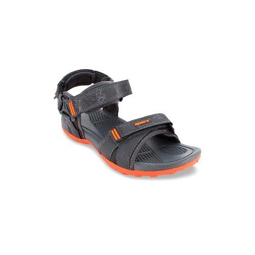Sparx Men Grey & Orange Sports Sandals