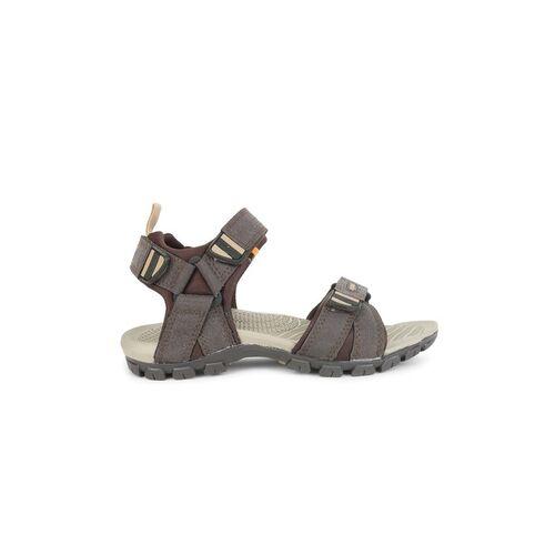 Sparx Men Brown Leather Comfort Sandals