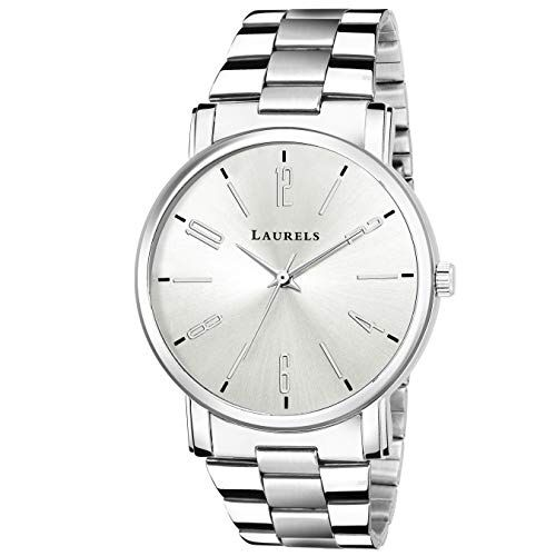 Laurels Large Dial Men Watch with Metal Chain