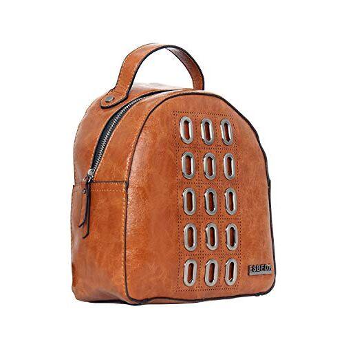 ESBEDA Tan Color Retro Rivet Backpack For Women