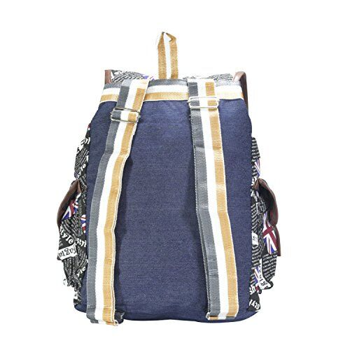 DESENCE Women & Girls Stylish Backpack/Bagpack Bags for College/School/Travel -Canvas USA Print- 10 Liters