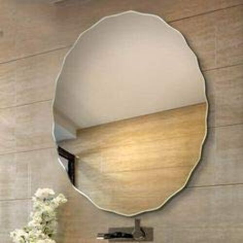Quality Glass Frameless Round Shape Decorative Mirror Glass for Wall Mirror for bathrooms Mirror in Home Mirror Decor Mirror Size : 18X 18inch QGFL 136