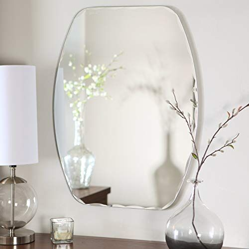 Quality Glass Verticle Shape Frameless Decorative Mirror Mirror Glass for Wall Mirror for bathrooms Mirror in Home Mirror Decor Mirror Size : 12 X 18inch QGFL 133
