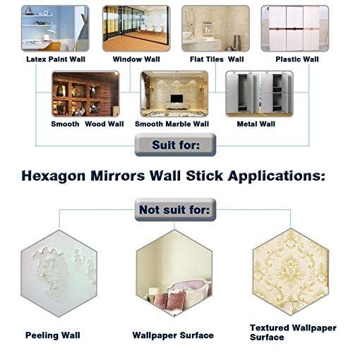 Atulya Arts offerings 3D Acrylic Mirror Hexagon Shape Wall Stickers Decorative Stickers for Home & Offices (Gold) -(Pack of 20)