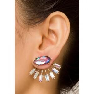 Pipa Bella Red Wine Fan Earrings