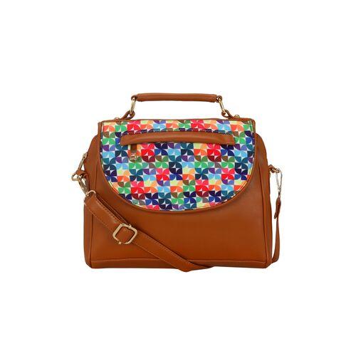 Kleio multi colored leatherette (pu) regular sling bag