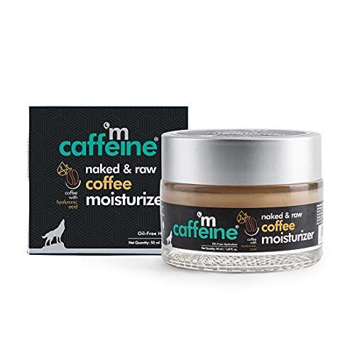mCaffeine Oil-Free Coffee Moisturizer | Instant Hydration, Regulates Excess Oil | Hyaluronic Acid, Pro-Vitamin B5 | All Skin Types | Paraben & Cruelty Free | 50 ml