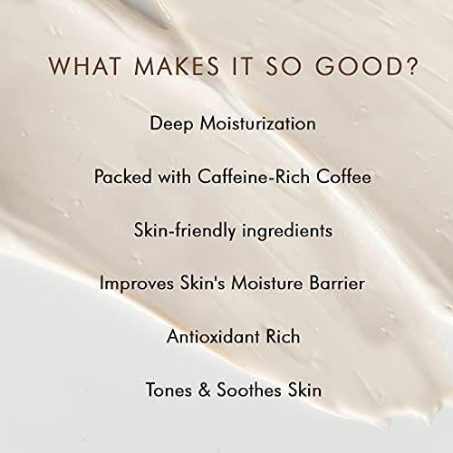 mCaffeine Non-sticky Latte Coffee Moisturizer | Deep Moisturization, Nourishing | Shea Butter, Ceramide | All Skin Types | Paraben & Cruelty Free | 50 ml