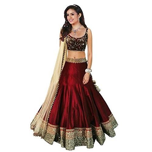 Vaankosh Fashion Red Georgette Bollywood Style Lehenga