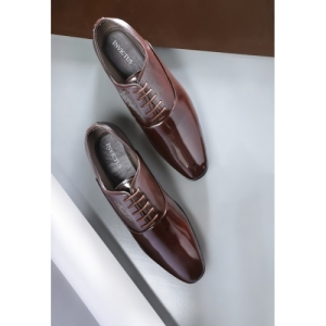 INVICTUS Coffee Brown Synthetic Formal Oxfords Shoes