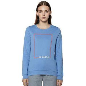 VERO MODA Women's Cotton Sweatshirt (216431902_Comfrey_X-Small)
