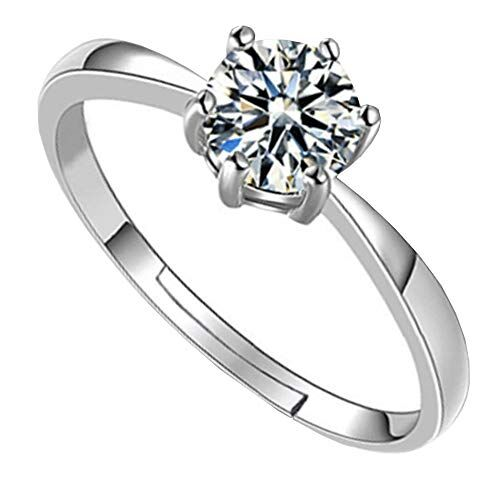All About You GIVA 925 Sterling Silver Zircon Cubic Zirconia Vintage Adjustable Rings for Women and Girls With Certificate of Authenticity and 925 Hallmark(Silver)
