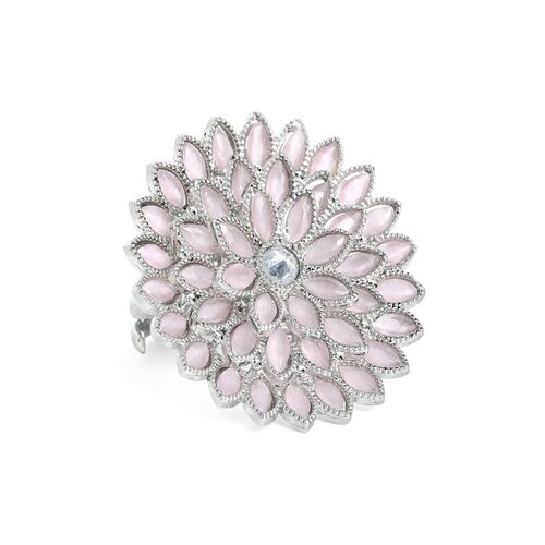 Rubans Silver Plated Handcrafted AD Studded Ring