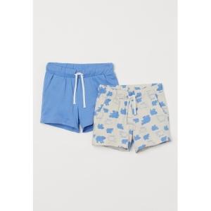 H&M Boys Blue & Beige 2-pack cotton shorts