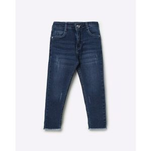 Mid-Wash Distressed Jeans