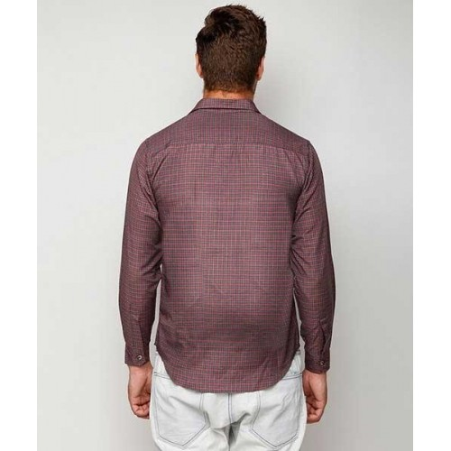 Buy Yepme Red Grey Alec Check Shirt Online