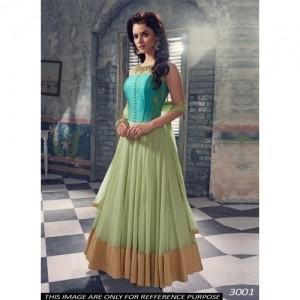 Sea Green Fancy Designer Anarkali Salwar Suit