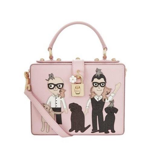 44c67ef3f904 Buy Dolce   Gabbana Baby Pink Leather Sling Bag For Women online ...