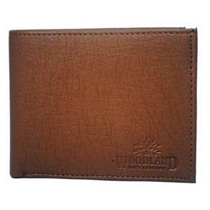 Woodland Artificial Leather Tan Wallet For Men