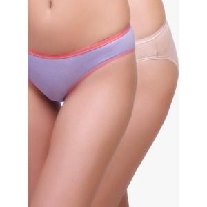 Inner Sense Lavender & Beige Organic Bikini Panty