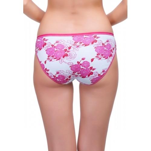 Inner Sense White & Pink Organic Cotton Bikini