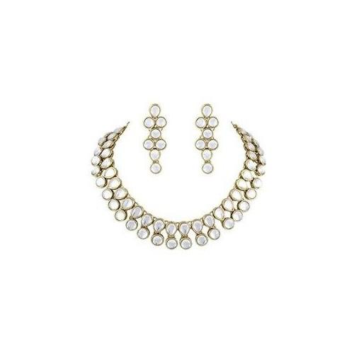 Shining Diva Golden Necklace Set For Women