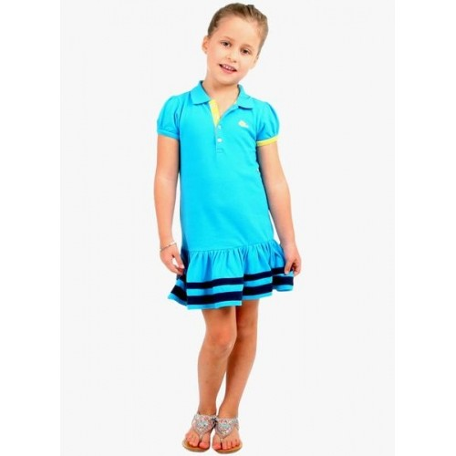 Cherry Crumble California SkyBlue Solid Dress