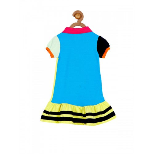 Cherry Crumble Girls Yellow Drop-Waist Dress