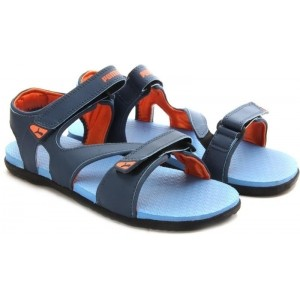 Puma Blue Leather Sports Sandals