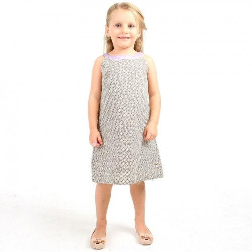 Cherry Crumble California Gray A-line Dress
