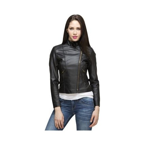 Lambency Full Sleeve Solid Womens Black Jacket