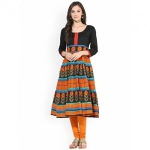 Aks Multi Colored Printed Anarkali