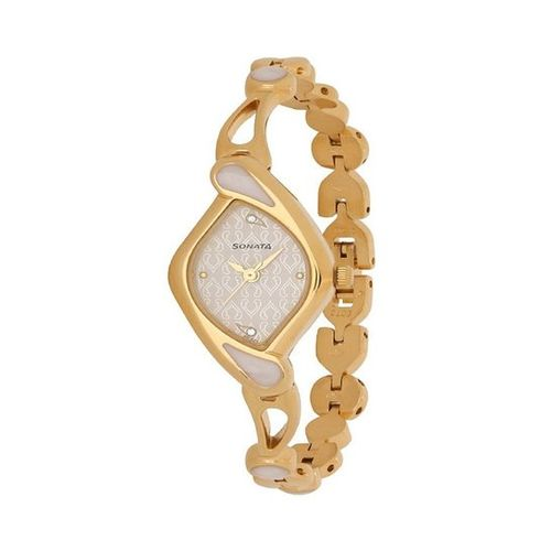 Sonata Gold Plated Analog Watch