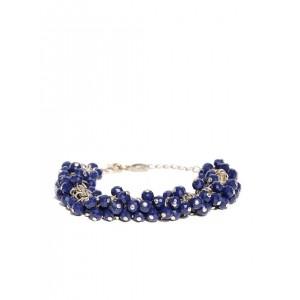 Accessorize Gold-Toned & Navy Beaded Bracelet