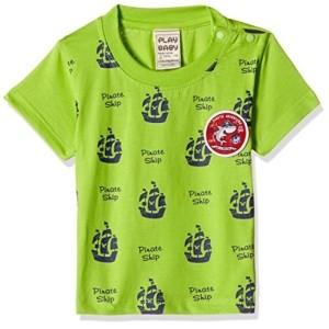 Little Kangaroos Green PolyCotton Printed T-Shirt
