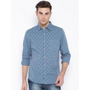 Blue Saint Blue Printed Men's Casual Shirt