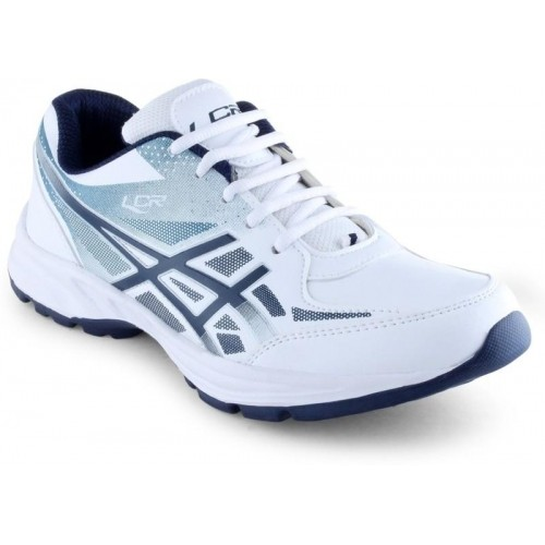 Lancer White Lace Up Running Shoes