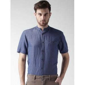 Mast & Harbour NavyBlue Denim Casual Shirt