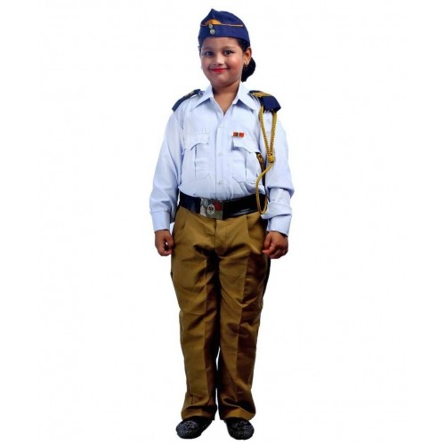 Buy SBD Traffic Police Community Helper Fancy Dress White
