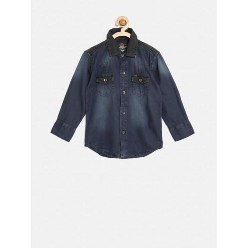Gini and Jony Boys Blue Washed Shirt