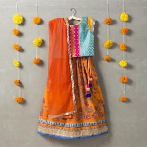 Sorbet Multicolor Cotton Printed Lehenga Choli Set