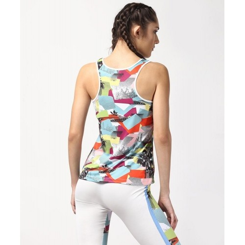 Yepme Multicolor Birdie Multi Patch Tank Top