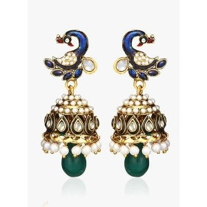 Zaveri Pearls Multicoloured 100%Zinc Jhumki