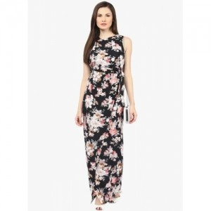 Harpa Black Printed Maxi Dress